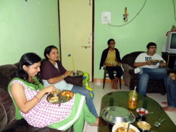 2012Sep01 – Family Dinner @ Nitin's Home