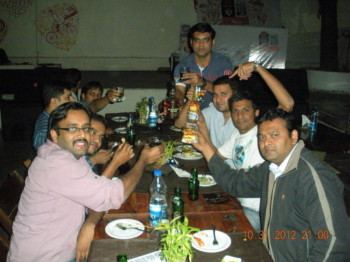 2012Oct31 – Aditya's Farewell + Tushar's Bachelor Dinner Treat