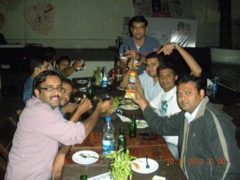 2012Oct31 – Aditya's Farewell + Tushar's Bachelor Dinner Treat