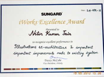 SunGard iWorks Excellence Award