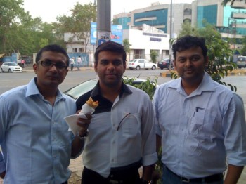 2012Jun04 – Rajesh's Car & Sachin's TV – Evening Snacks