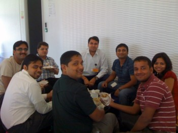 2010Nov01 – Nitin's Ticket Confirmation Lunch in Office