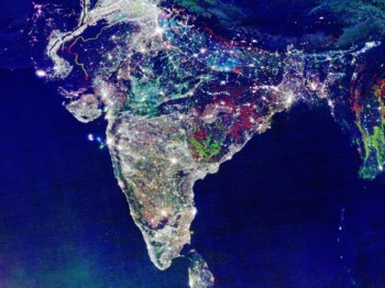 The Real Satellite Picture of Diwali Night in India By NASA