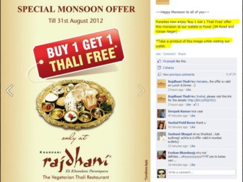 Rajdhani Thali Offer