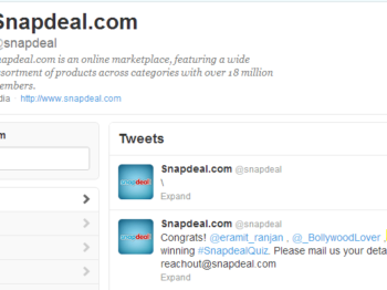 Snapdeal Thursday quiz winner